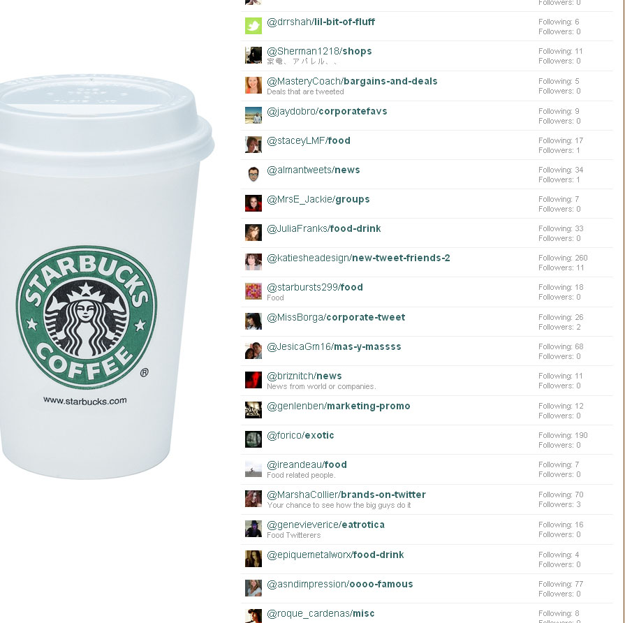 Screengrab of Starbucks Twitter