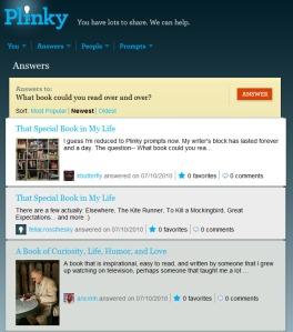 Plinky Answers